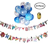 Yuccer Konfetti Luftballons, Klar Confetti Balloons für Hochzeit und Geburtstag Party Dekorationen Luftballons mit Golden Papier Konfetti Punkt (H, 23 Stück)
