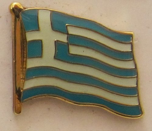 Pin Anstecker Flagge Fahne Griechenland Nationalflagge Flaggenpin Badge Button Flaggen Clip Anstecknadel (Flagge Buttons)