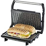 T27016: Tower Cerastone T27016 Panini Maker And Grill With Non-Stick Ceramic Coating, 750 Watt, Stainless Steel