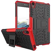 Sony Xperia E5 Funda, 2in1 Armadura Combinación A Prueba de Choques Heavy Duty Escudo Cáscara
