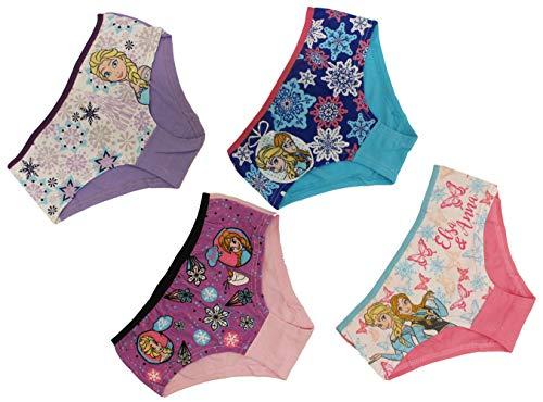 Disney Frozen Die Eiskönigin Unterwäsche 4er Set je 2X Pink/Hellblau (116/128, Pink/Hellblau)