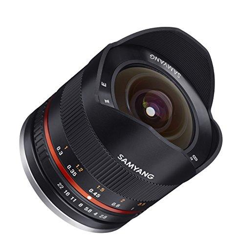 Samyang CSC-Mirrorless - Objetivo fotográfico para Fuji X (8 mm, F2.8 II UMC, ojo de pez), negro