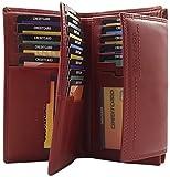 Jockey Club Großes Damen Portemonnaie mit extra vielen Einsteckfächern in 2 Farben (Rot)