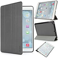 iHarbort® iPad Air Hülle - Premium PU Leder Tasche Hülle Etui Schutzhülle Ständer Smart Cover für iPad Air , mit Schlaf / Wach-up-Funktion, Grau