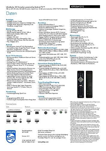 Philips 43PUS6412/12 108cm (43 Zoll) 4k Fernseher - 3