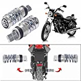 #10: Motoway Spring Coil Style Bike Foot Pegs Foot Rest Set Of 2 For For Yamaha Ray
