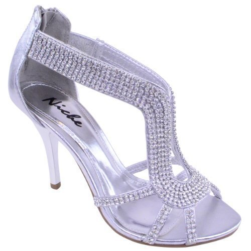 LADIES WOMENS PARTY PROM BRIDAL EVENING FASHION HIGH HEELS SHOES SANDALS SIZE...