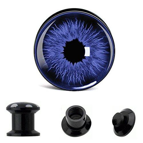 Chic Net vite Plug acrilico blu pupilla