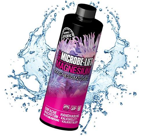 MICROBE-LIFT Magnesium - (Qualitäts-Magnesiumzusatz für alle Meerwasser Aquarien, enthält einen pH-Stabilisierer, beugt einem Magnesium-Mangel vor, optimiert das gesunde Wachstume von Korallen, untersützt einen schnellen Bewuchs von Kalkrotalgen, Stabilisiert den Magnesium und pH-Wert, Wasseraufbereiter, ausreichend für 45.000 Liter) 473 ml