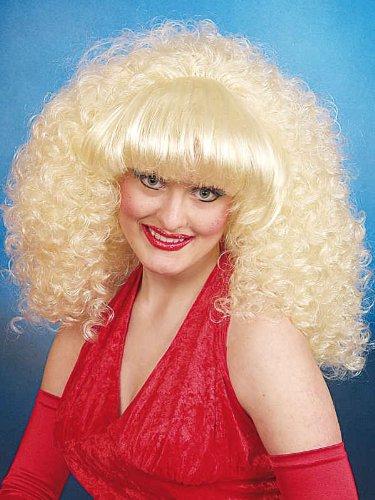 Orlob Damen Perücke Dolly stark gelockt mit dickem Pony Karneval Fasching