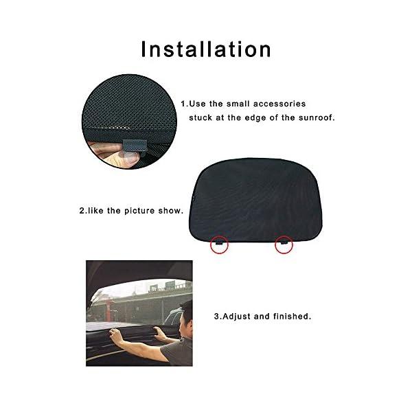 Techo solar de la persiana enrollable de la claraboya sombreado Net cortina de protecci/Ã/³n solar
