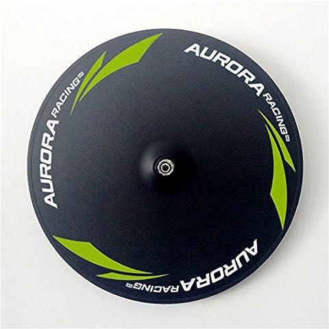 Aurora Racing Hot Sell 55mm Route 5rayons avant Carbone disque de roues et 700C Carbone Pneu vélo Roues, 5s Road Front Wheels+Disc Road Rear Wheels