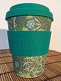 ecoffee Bambusbecher 355 ml, Mod. Seaweed, Coffee to go Becher , Reisebecher umweltfreundlich aus Bambus inkl. Deckel