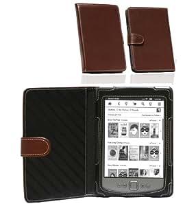 Navitech Lilane Executive Premium Bycast Leder Flip Buch Trage Tasche/Case Für Das Neue 6 Zoll Amazon Kindle 4G E-reader Mit Schmalerem und Leichterem Design (October2011 Ausgabe)