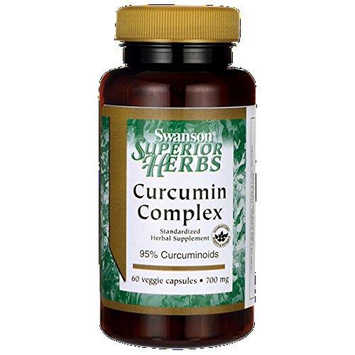 Swanson - Curcumina + Bioperine® 700mg, 60 Cápsulas Vegetarianas - 95% Curcuminoides & Piperina -