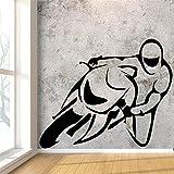 Kreative Motorräder Rennen Design Wandaufkleber für Jungen Schlafzimmer Hintergrund Vinyl...