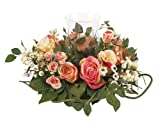 Nearly Natural 4685-AP Rose Candelabrum Decorative Silk Flower Arrangement, Pastel by Nearly Natural