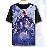 Avengers 4 T-Shirt Fin De Match Iron Man Thor Veuve Noire Hulk Capitaine America Thanos Marvel Comics Super-héros Enfants Adultes 4-130