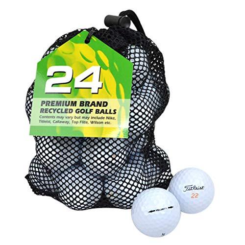 Second Chance Titleist Velocity Premium Balles de golf de récupération Calibre A Blanc lot de 24