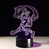 CFLEGEND 3D Nachtlichter Led Tischlampen Spielzeug Tischlampen Umgebungslichter Schlaflichter Schreibtische Babylichter Geschenke Usb-Lade Filme Indoor Cartoons