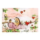 Vliestapete Erdbeerinchen Erdbeerfee - Auf dem Ast, HxB: 255cm x 384cm