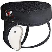 AQF Boxeo Coquilla Protectora para la Ingle con Copa con Gel Elástico Suspensorio Abdominal para MMA Artes Marciales Boxeo Muay Thai Kickboxing (M)