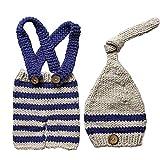 Aediea - Grazioso costume da neonato lavorato a maglia all'uncinetto, cappelli, vestiti, cappelli, abbigliamento, accessori fotografici