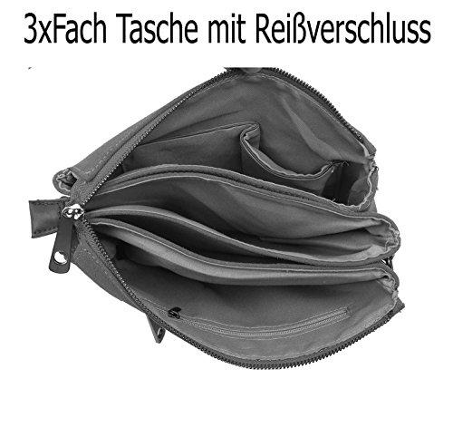 OBC Bags&More, Poschette giorno donna nero Schwarz mit Stern 3xFach Schwarz mit Stern 3xFach