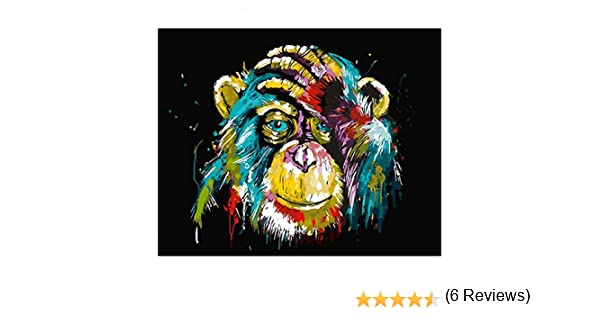 Peinture par Num/éros pour Enfants Adultes Wall Art Peint Couleur Lion Cadeau Animal Bricolage 40X50Cm-No Frame