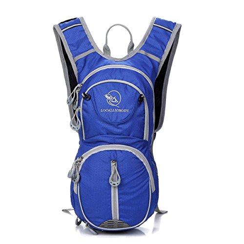 Mode Sport Radfahren Rucksack Im Freien Leicht Schulter Tasche Blue