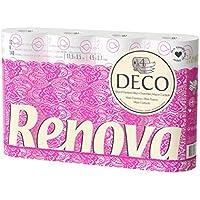 Renova Papel higiénico 4 Capas Blanco Decorado Perfumado - 12 rollos de papel