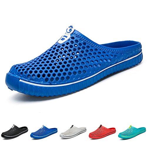 BOLOG Zapatos Hombre Mujer Zuecos Sandalias Para Playa Zapatillas de Playa Zapatos de Jardín Sandalias y Chanclas,Azul,EU44
