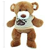 Sweety de Toys 5383 Fortuna Teddy Oso Love You oso 120 cm oso con capucha Camiseta de Love You oso de peluche Premium Calidad Sweety de Toys supersüss