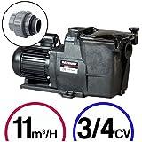 Bomba filtración piscina–Super Pump 3/4CV Mono 11m³/h–Hayward