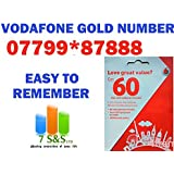 Vodafone UK Golden Number Easy To Remember Pay as you go Trio SIM Card Standard , Micro And Nano.