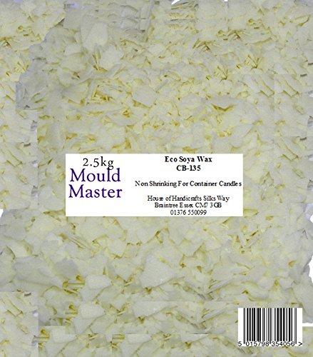 Moldmaster - cera di soia naturale, 2,5 kg, colore bianco