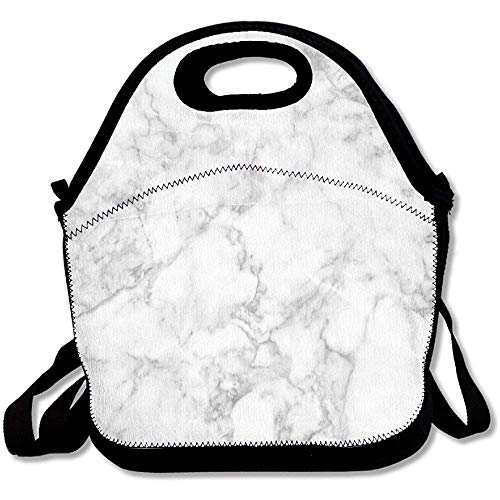 Nature Granite Pattern With Cloudy Spotted Trace Effects Marble Artistic Image Decorative Lunch Bag Tote For School Work Outdoor