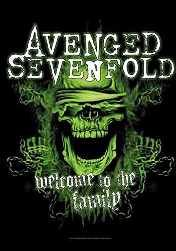 Avenged Sevenfold - Welcome To The Family - Poster Bandiera Bandiera - 100% poliestere - Dimensioni 75 x 110 cm
