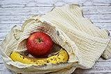 Brotbeutel, Obst- und Gemüsebeutel aus Bio-Baumwolle, umweltfreundlich, nachhaltig, ökologisch, Küche, Haushalt, Tasche, Netz, Eltern, Kind, Baby