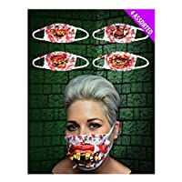 FashioN HuB Unisex Fancy Party Mask Adults Assorted Gofy Teeth Surgeon Masks Party Accessory