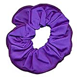 Shiny Nylon/Lycra hair scrunchie (Purple)