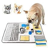 Toozey Hund Schnüffelteppich (50 * 70CM) - Intelligenz Spielzeug für Hunde - Fördert Natürliche Nahrungssuche - Langlebig und Maschinen Waschbar Schnüffelmatten - Perfekt für Alle Rassen