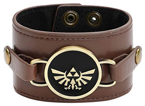 The Legend of Zelda Wristband Double Sided Charm Brown