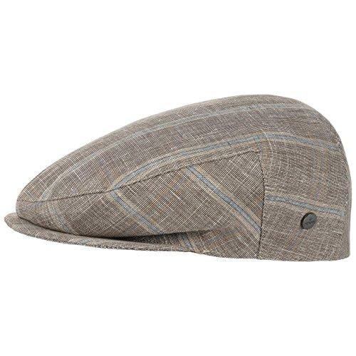 Casquette Inglese Melange Check Lierys casquette en lin casquette d´ete Marron