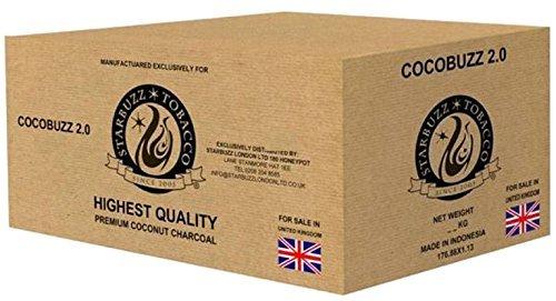 Starbuzz CocoBuzz 2.0Loungepackung mit 10kg, Kokosnuss-Naturkohle für Shisha/Wasserpfeifen