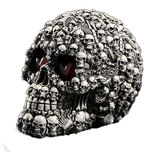 ZHZX Menschlicher Schädel Dekoration, Tod und wiedergeborenes Kunstwerk Kunstharz Skulptur, Fotografie Requisiten, für Hauptdekoration Halloween Ornament (Den Halloween Tod Bedeutet)