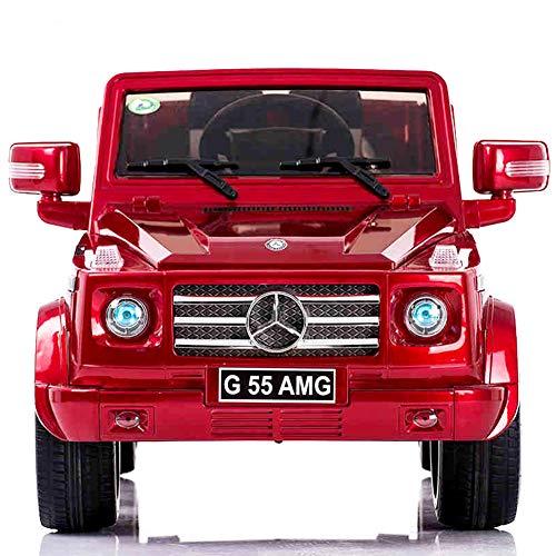 WY&WY Kinder Elektroauto,Musik Licht Ferngesteuerter Sitzen Kleinkind Car Kinderwagen,red