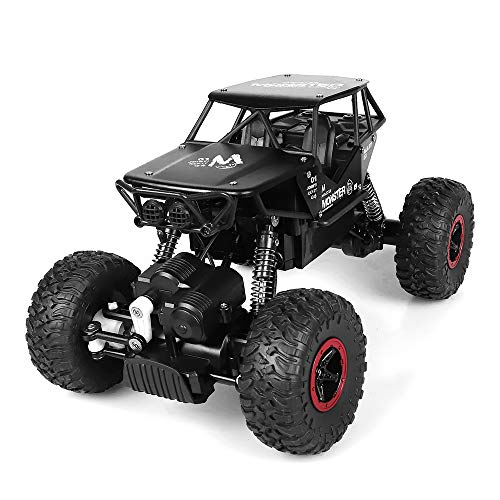 RC Cars, Rabing fuoristrada Rock Vehicle Truck Crawler 2.4Ghz 4WD ad alta velocità 1:14 Radio Remote Control Racing Cars elettrico Fast Race Buggy Hobby Car (Nero)
