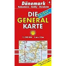 Generalkarte Dänemark 4. Koebenhavn, Roedby, Bornholm 1:200 000.