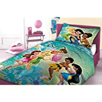 Faro, Disney Fairies, Trilli, set di lenzuola 160x 200,cotone Öko Tex, multicolore, 200x 160cm